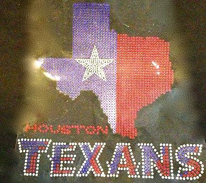 Amazon com : Texas Map with Texans Rhinestone Transfer Iron