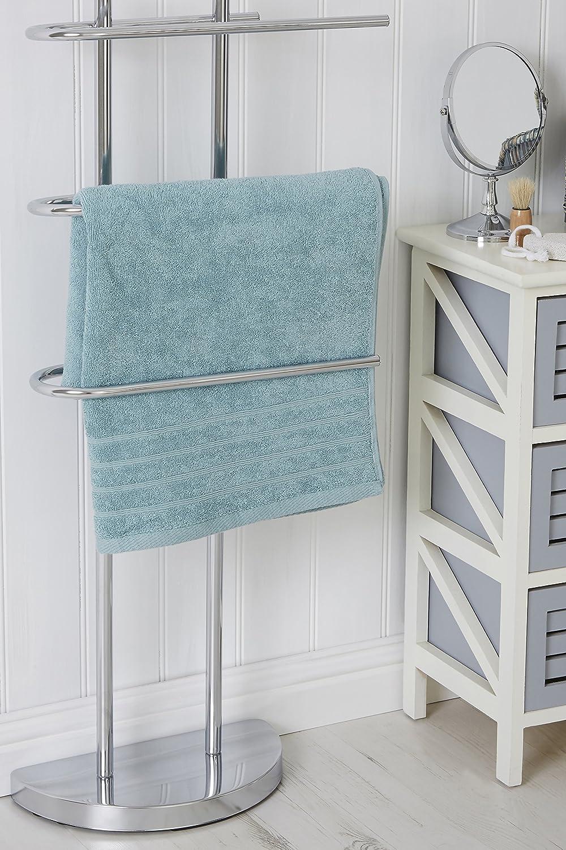 Premier Housewares Porta asciugamani da pavimento cromato con 3 ...