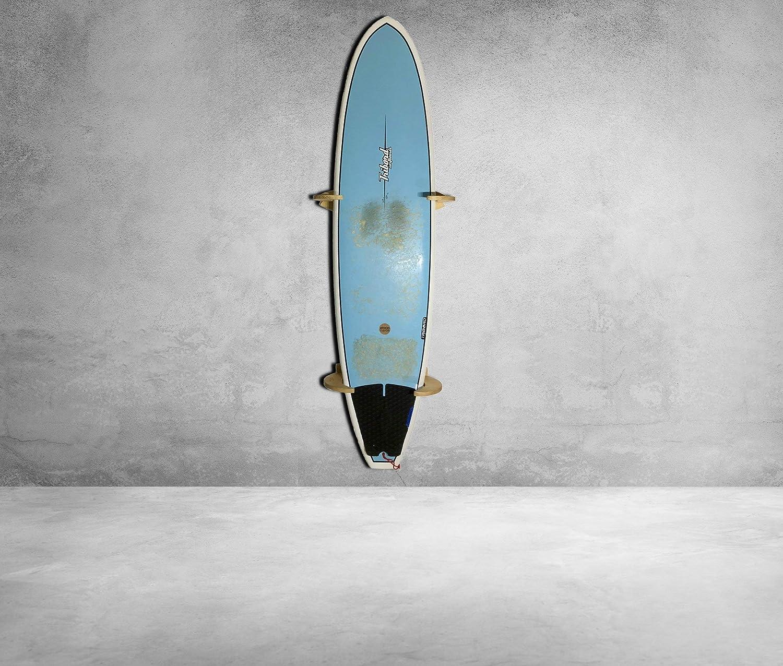 Premium Rack pour suspension verticale fait à la main en bois massif - Parfait pour les planches de surf, shortboards et longboards