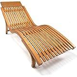 Ampel 24 Sonnenliege Cannes   Gartenliege ergonomisch geschwungen   Relaxliege mit Wählbarer Liegeposition   wetterfeste Gartenliege aus Holz