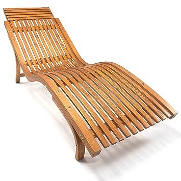 Ampel 24 Sonnenliege Cannes, Gartenliege Ergonomisch Geschwungen,  Relaxliege Mit Wählbarer Liegeposition, Wetterfeste Gartenliege