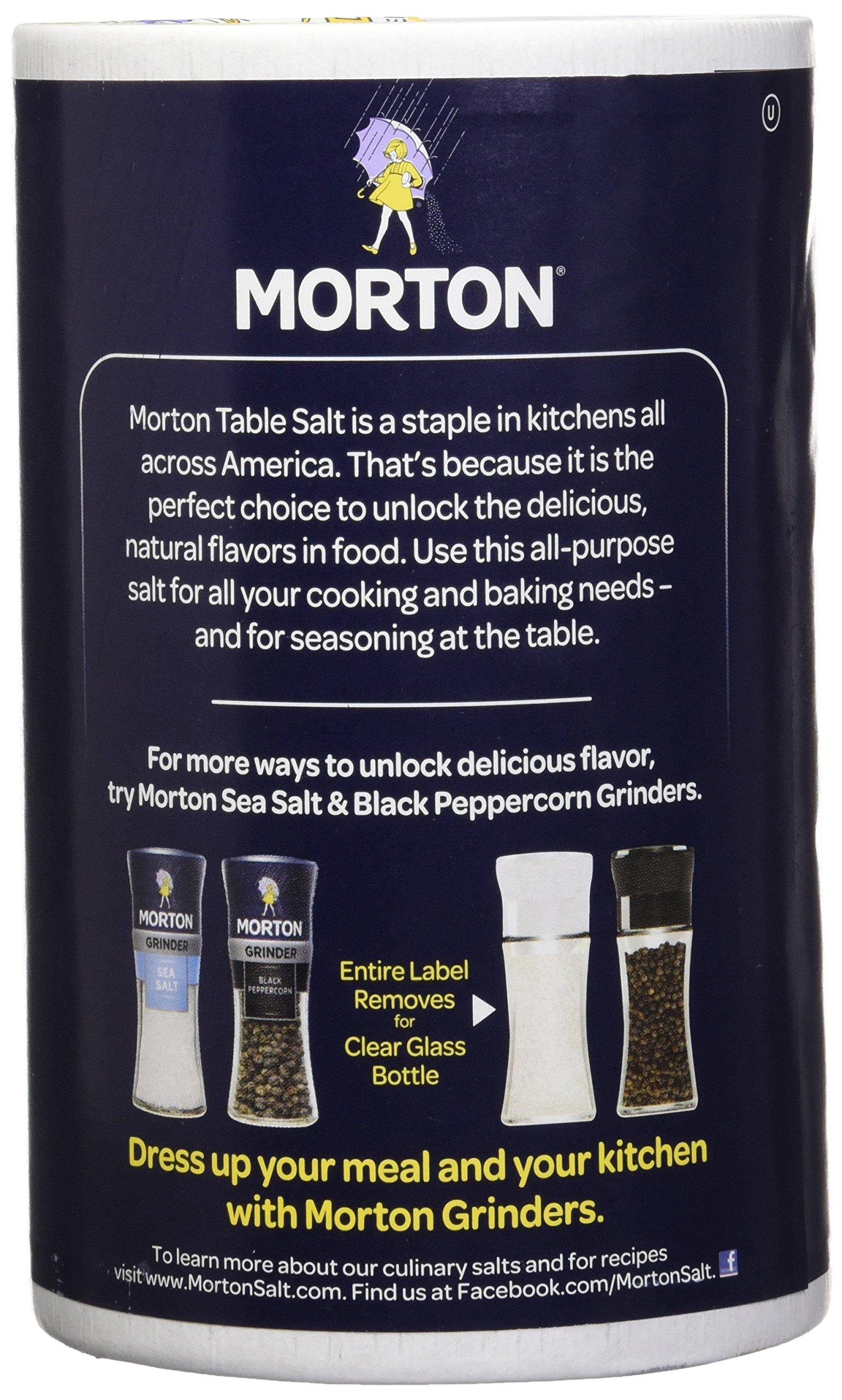 Morton Iodized Salt, 26 oz, Pack of 2 by Morton (Image #3)