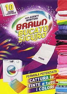 Brawn – BucatoSicuro - Paños atrapa color para lavadora con agentes inhibidores – 10 unidades