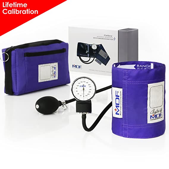 MDF® Esfigmomanómetro aneroide Calibra - Monitor de presión arterial - Garantía de por vida & Programa-piezas-gratuitas-de-por-vida - Morado (MDF808M-08): ...
