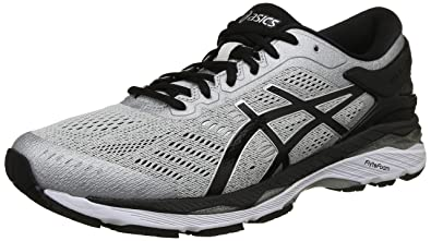 bd6d2806de7 ASICS Men s Gel-Kayano 24 (4E) Silver Black Mid Grey Running Shoes ...
