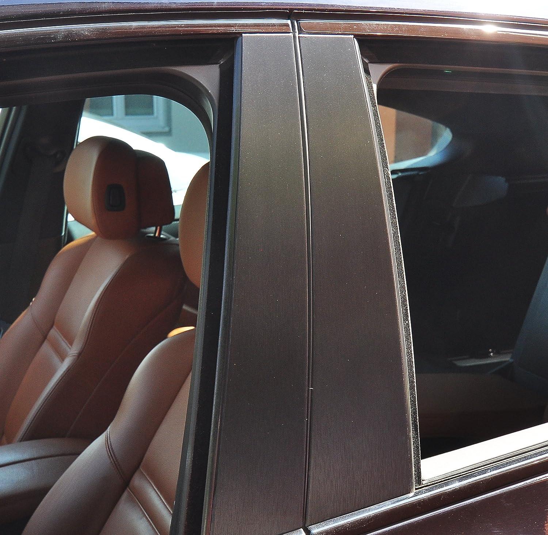 6x Alu gebü rstet schwarz Tü rzierleisten Verkleidung B Sä ule Tü rsä ule passend fü r Ihr Fahrzeug StickandShine