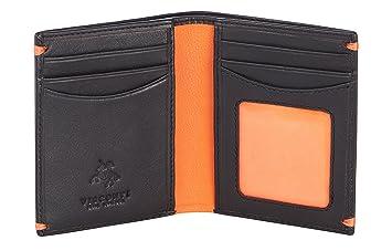 a471e0ec84d03 Visconti Bifold Leder Herren Flache Geldbörse Kreditkartenetui Alpine  Luxury Slim Leather Wallet (AP60)