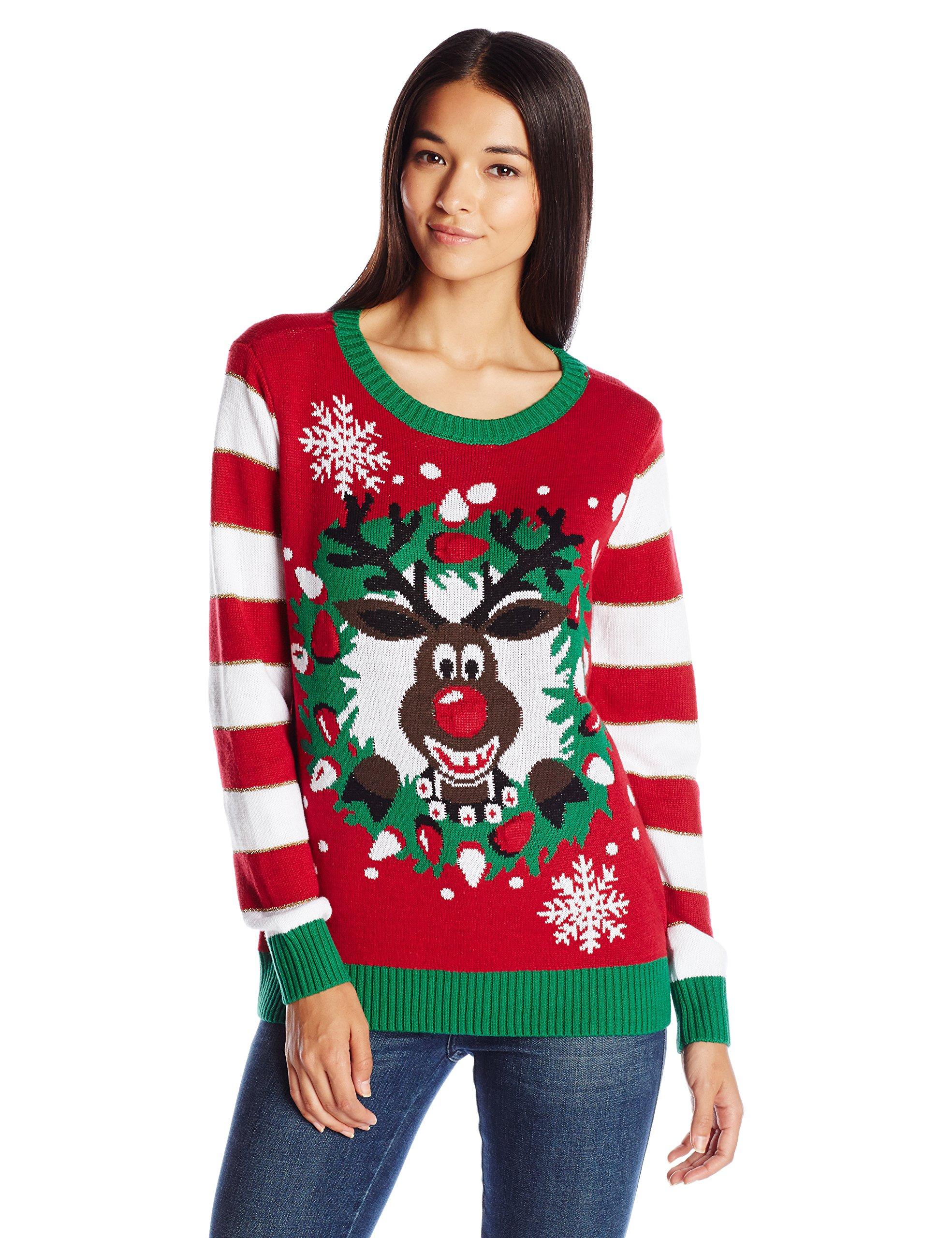 Ugly Christmas Sweater Company Women S Light Up Reindeer