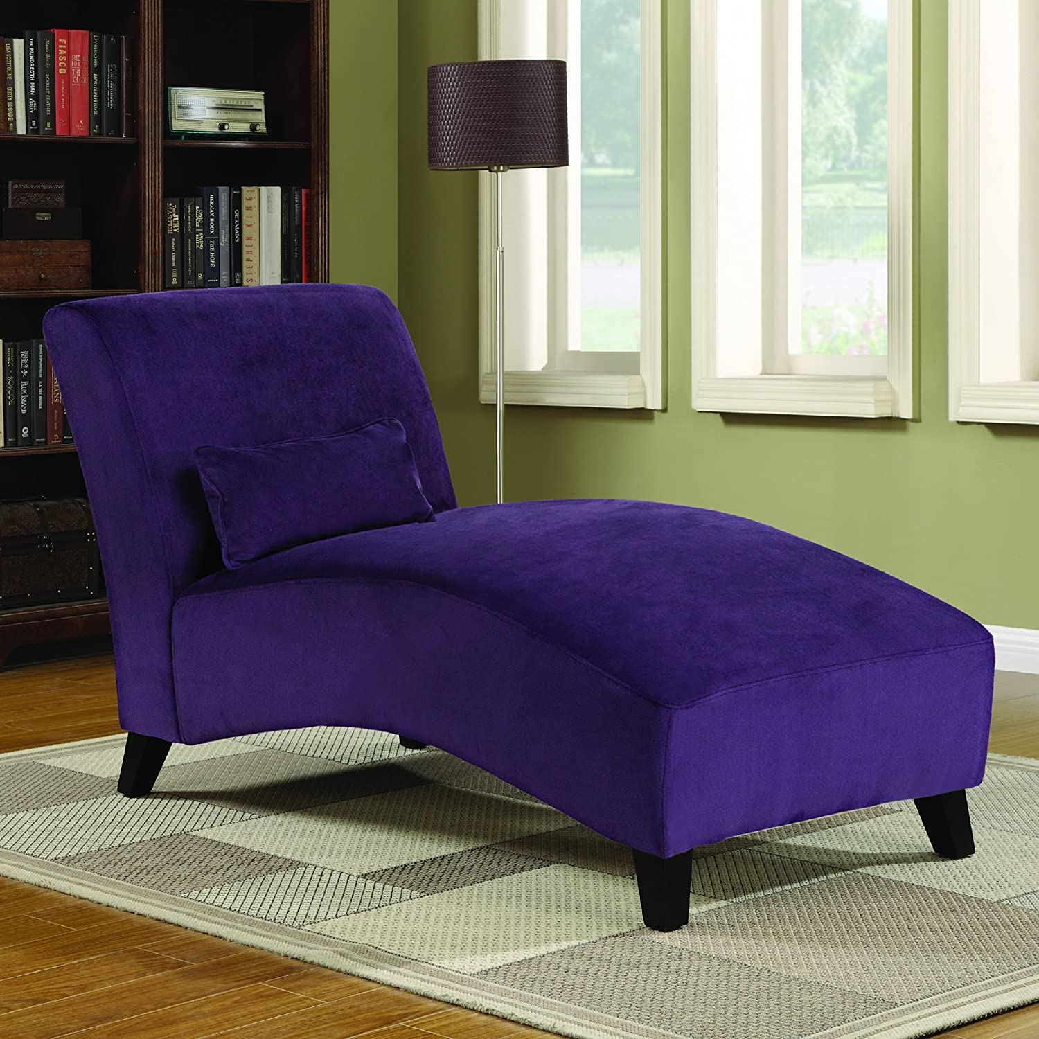 Handy Living Chaise Lounge Chair Purple Amazon Kitchen & Home
