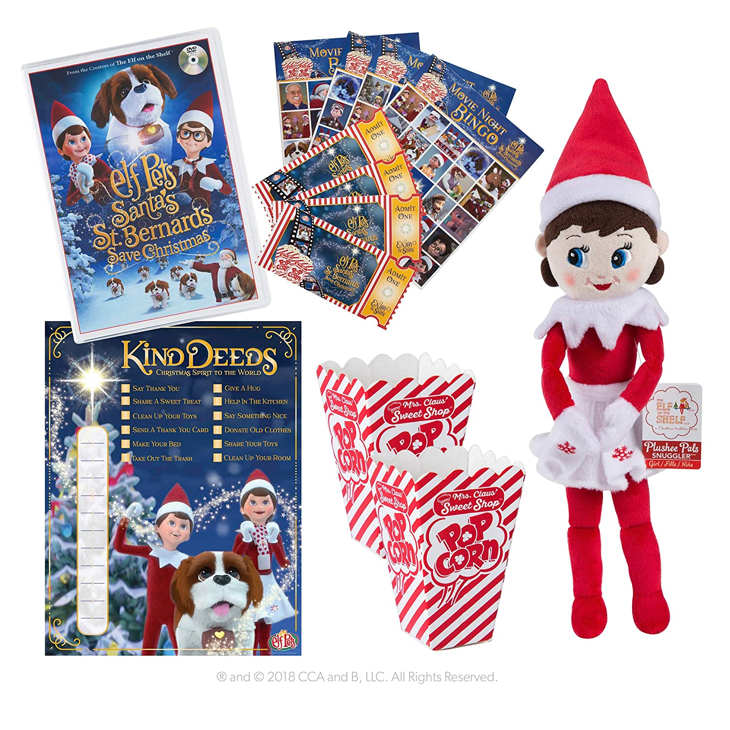Amazon The Elf on the Shelf Festive Family Night with 2 DVDs