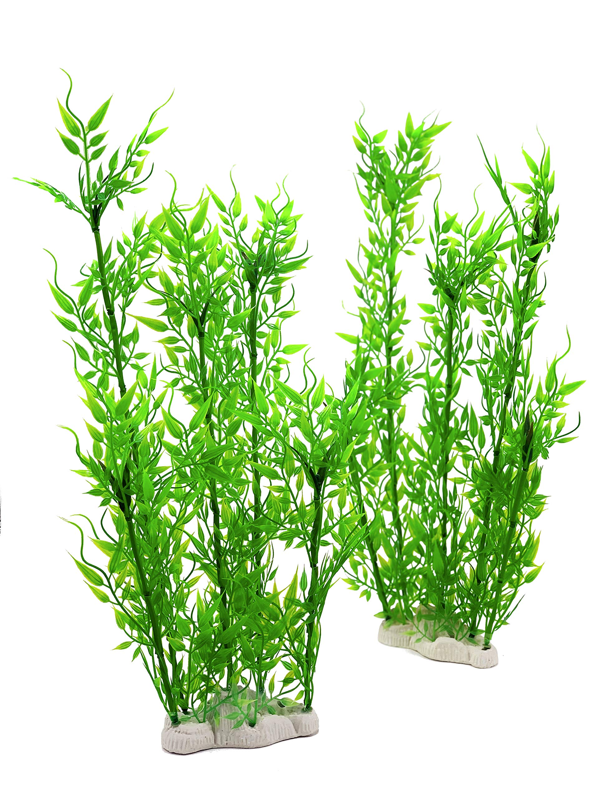 BEGONDIS Aquarium Decorations Fish Tank Artificial Green Water Plants Made of Soft Plastic,Safe for All Fish & Pets by BEGONDIS