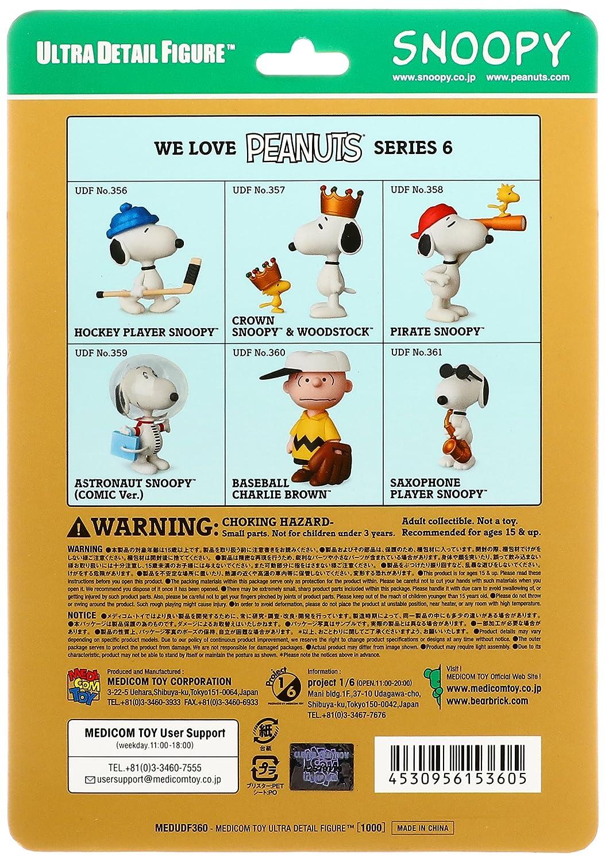 7519d9aff3e1df Amazon.com  Medicom Peanuts Series 6  Baseball Charlie Brown UDF Action  Figure  Medicom  Toys   Games