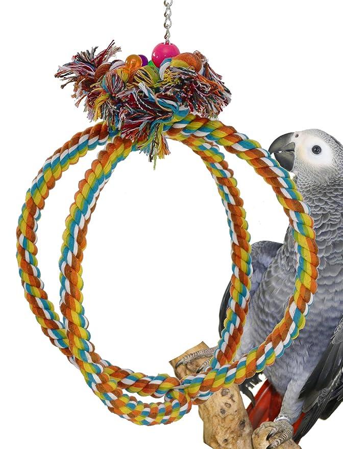 Bonka Bird Toys 1036 Globe Rope Ring Swing