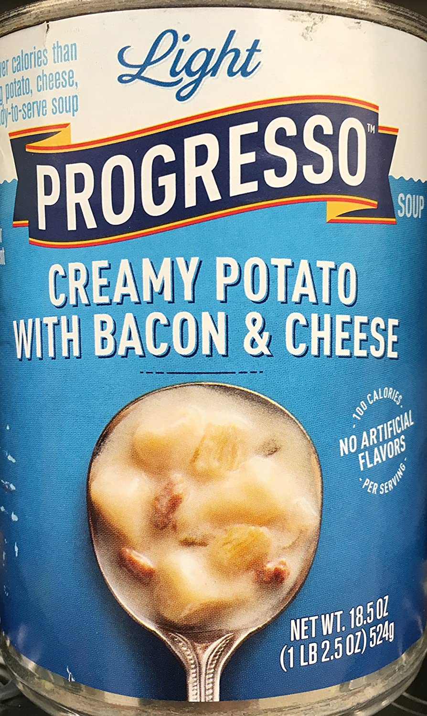 Progresso Luz Creamy Potato con Bacon & Queso sopa 18.5oz ...