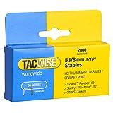 Tacwise Heavy Duty 53 Series 8mm Staples for Staple Gun (2000)