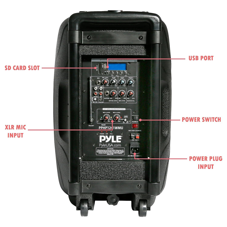 eef911574f9 Pyle Bluetooth PA Speaker System Wireless   Portable Powered Karaoke Speaker