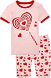 Amazon Price History for:Summer Pajamas for Girls Shorts Set 100% Cotton Children PJS Pink Sleepwear