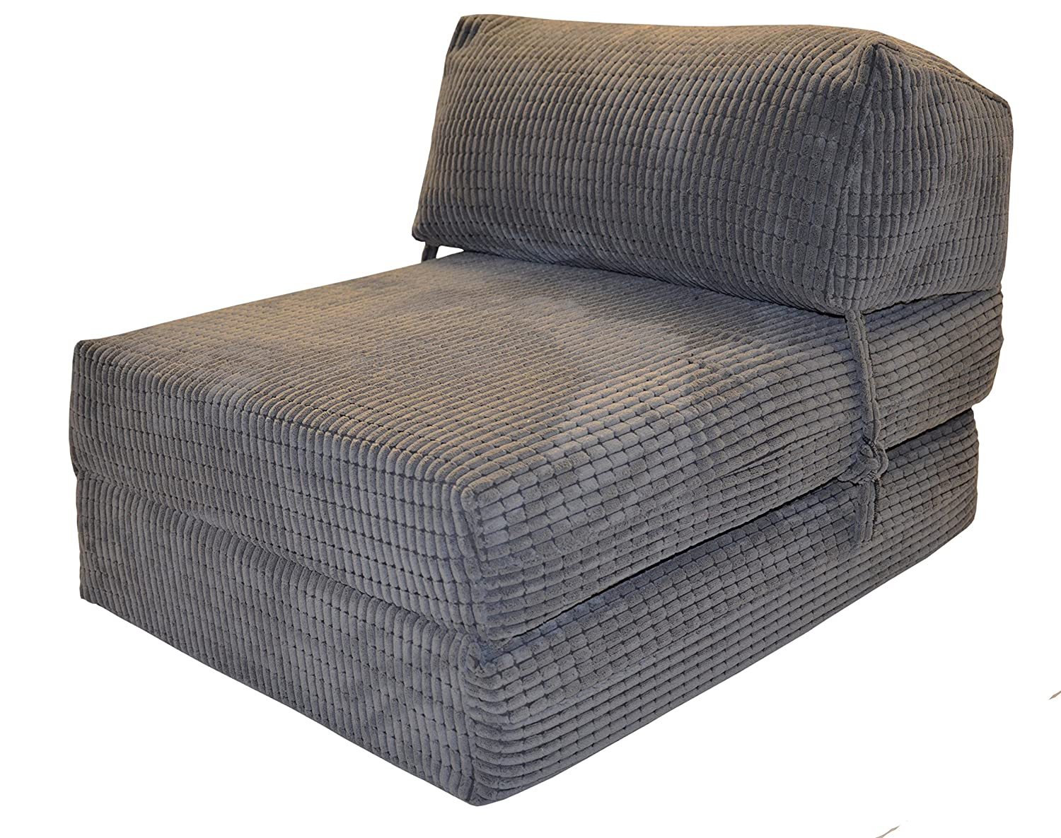 JAZZ CHAIRBED   CHARCOAL DA VINCI Deluxe Single Chair Bed Futon