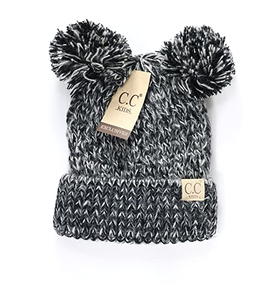 7293131af69 Camellia Charm CC Kids Baby Toddler Cable Knit Children s Pom Winter Hat  Beanie
