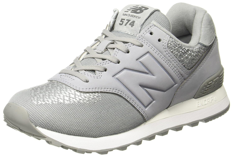 New Balance Women'S 574 Women'S Silver-Grey Sneakers Synthetic 40.5 B|Grey