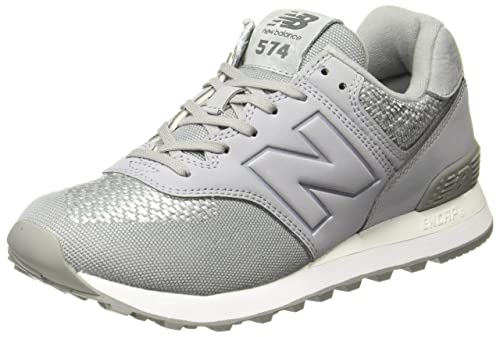 designer fashion 3f83f c4478 New Balance Wl574 Tech Raffia Womens Trainers: Amazon.co.uk ...