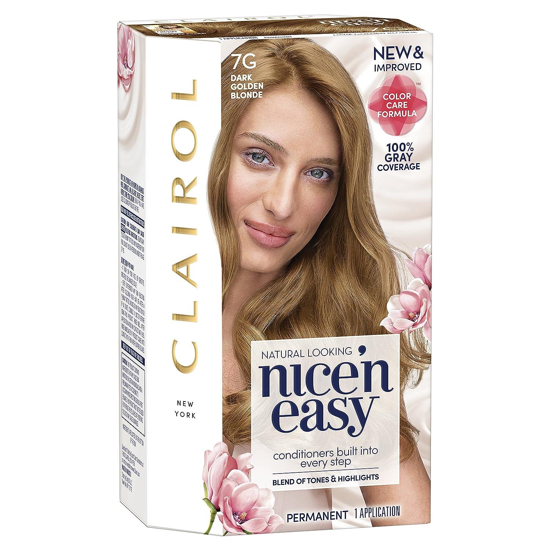 Amazon Clairol Nice N Easy 7g Dark Golden Blonde Permanent