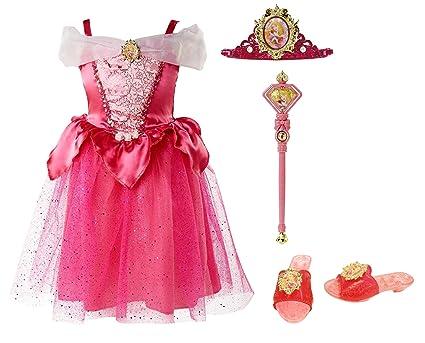 Amazon.com: Disney Princesa Bella Durmiente Vestido Up Set ...