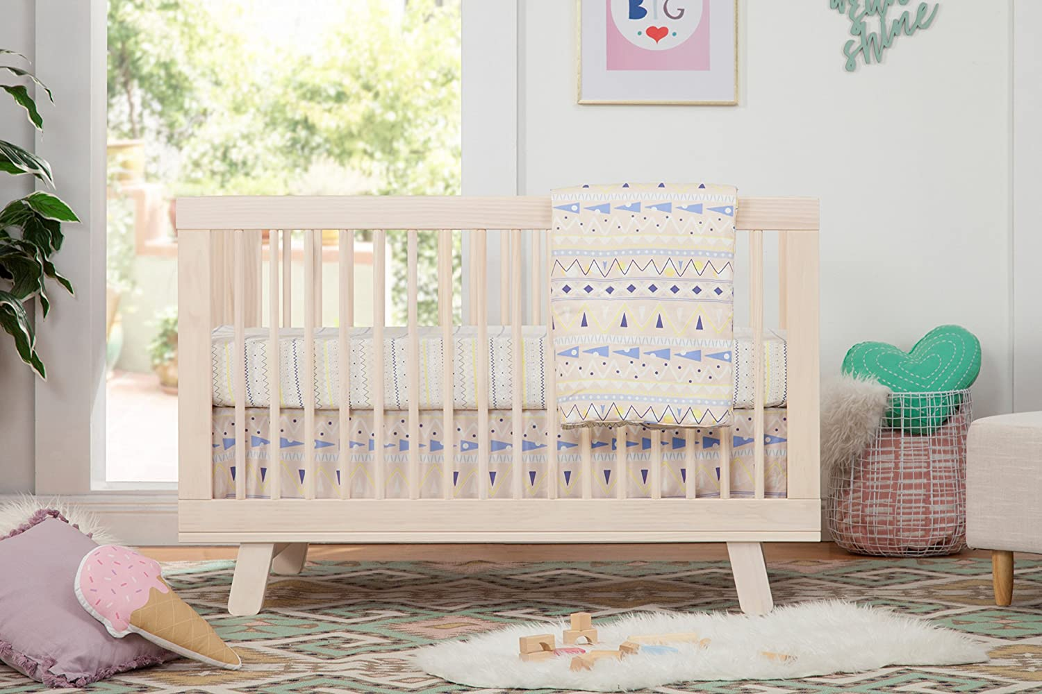 Amazon Babyletto Hudson 3 In 1 Convertible Crib With Toddler Bed Conversion Kit Washed Natural Baby
