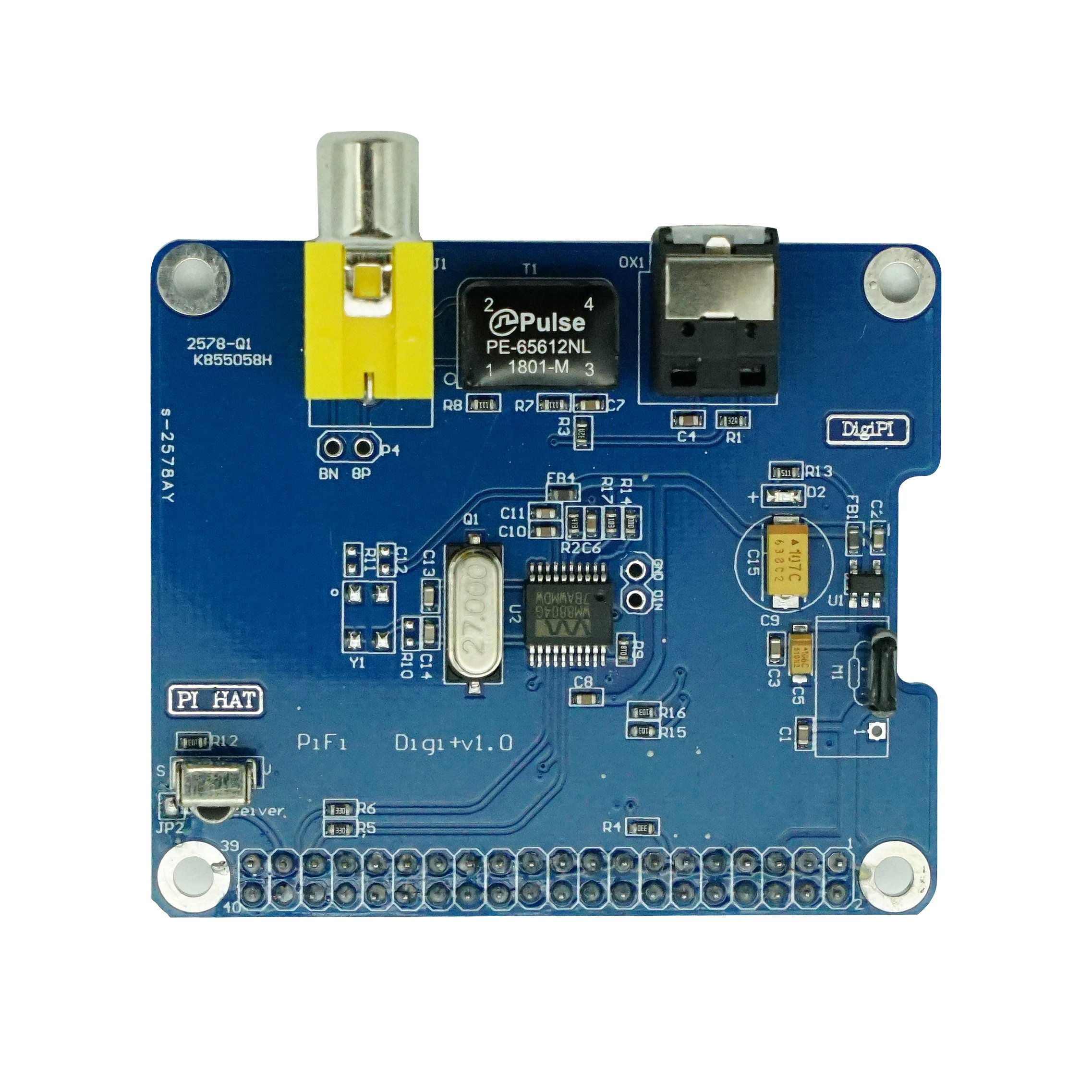 Geekteches HiFi DiGi+ Digital Sound Card Module I2S SPDIF Interface, Optical Fiber for Raspberry Pi 3 Model B+/3B/2B/B+