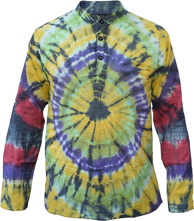 Rayado Hombre Abuelo Hippie Algodón Verano Luz Coloridos