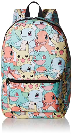 bioWorld Pokémon Pastel Kanto Starters All Over Print Backpack