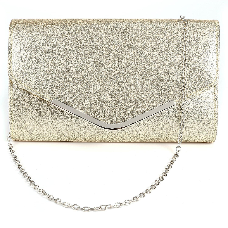 Anladia Ladies Envelope Clutch Bag Evening Bag Bridal Wedding Bag Handbag Prom Bag