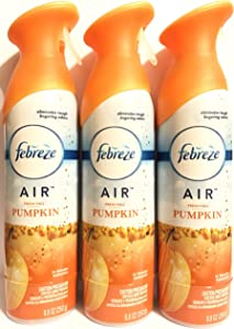 Febreze Air - Air Freshener Spray - Limited Edition - Winter Collection 2017 - Fresh-Fall Pumpkin - Net Wt. 8.8 OZ (250 g) Per Bottle - Pack of 3 Bottles