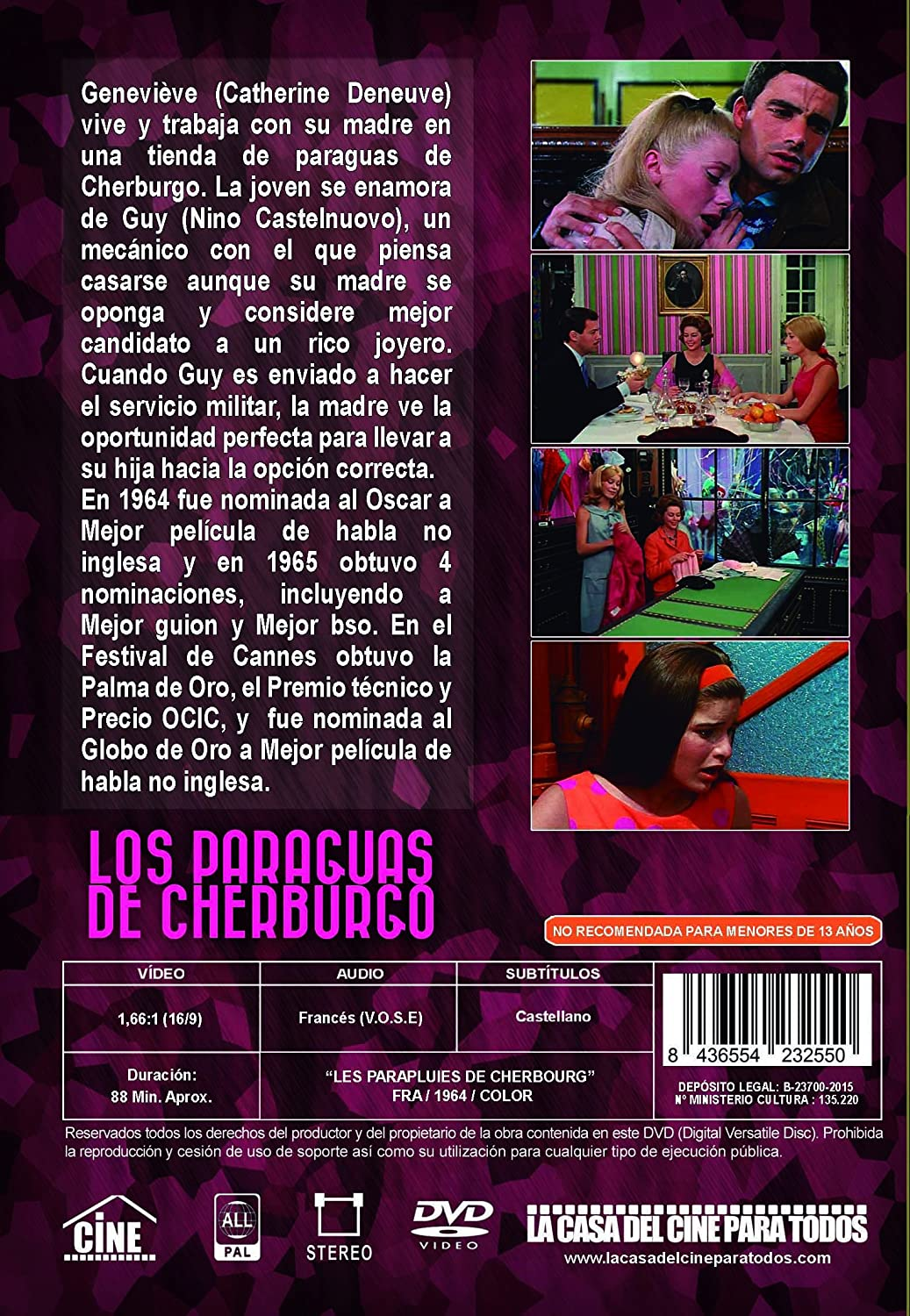 Amazon.com: Los paraguas de Cherburgo (les Parapluies de Cherbourg) 1964 - Import - All Regions: Movies & TV
