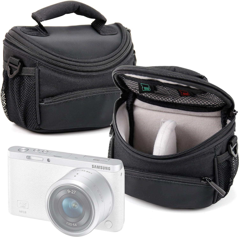 DURAGADGET Funda/Bolsa Protectora para cámara Samsung EV-NXF1ZZB4HDE NX, EV-NXF1ZZB4JDE NX Mini, Galaxy Camera 2, NX Mini Smart Camera, NX3000, NX300M, NX500, WB37F, WB350F, WB35F, WB36F Color Negro: Amazon.es: Electrónica
