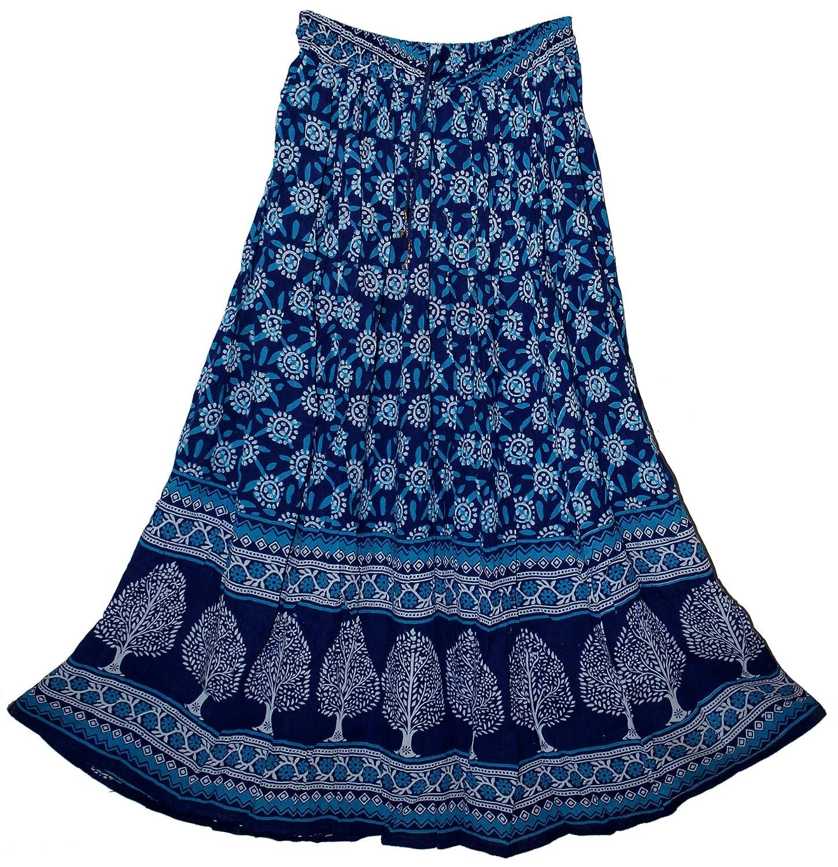 FOI Rayon Indian Hippy Kjol Rock Skirt Retro Boho Falda ...
