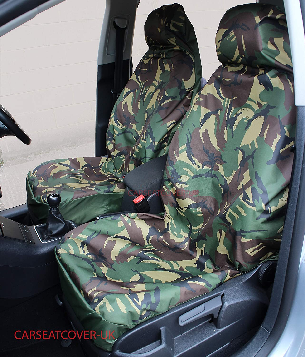 KIA CARENS ALL YEARS HEAVY DUTY GREY CAMOUFLAGE SEAT COVER SINGLE