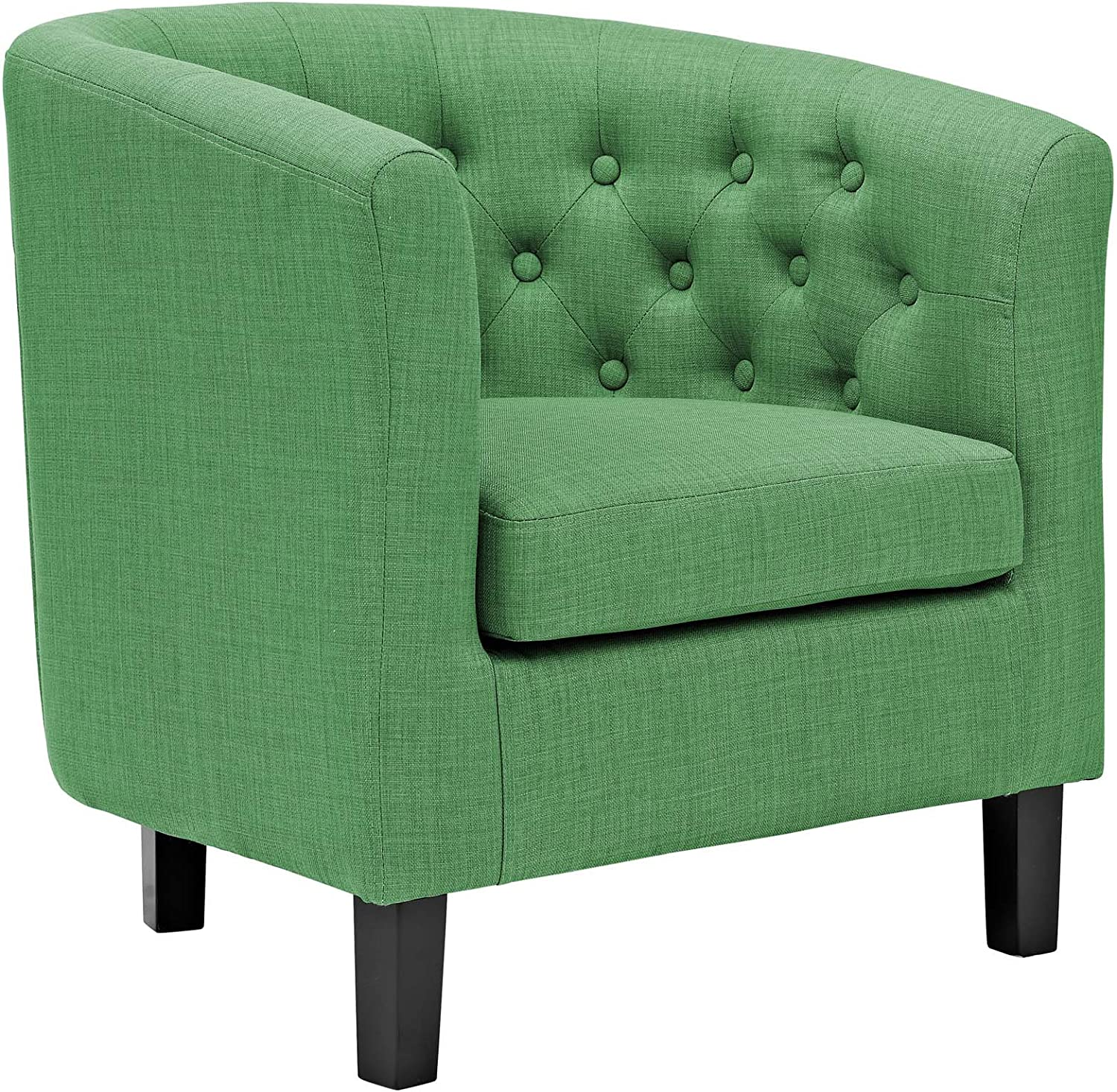 Modway Prospect Upholstered Fabric Contemporary Modern Accent Arm Chair in Kelly Green