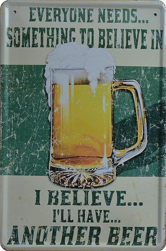 Cartel de chapa cerveza Beer Publicidad 20 x 30 cm ...