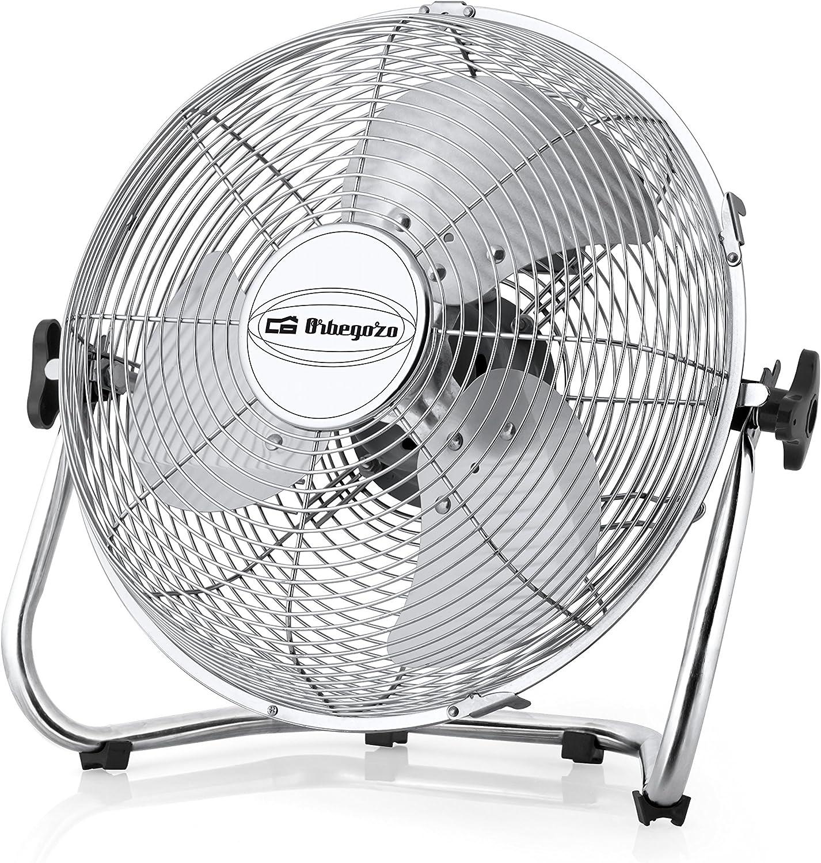 Orbegozo PW-1346 - Ventilador (Ventilador con aspas para el hogar, Acero inoxidable, Piso, 120 W, Corriente alterna, 45 cm)