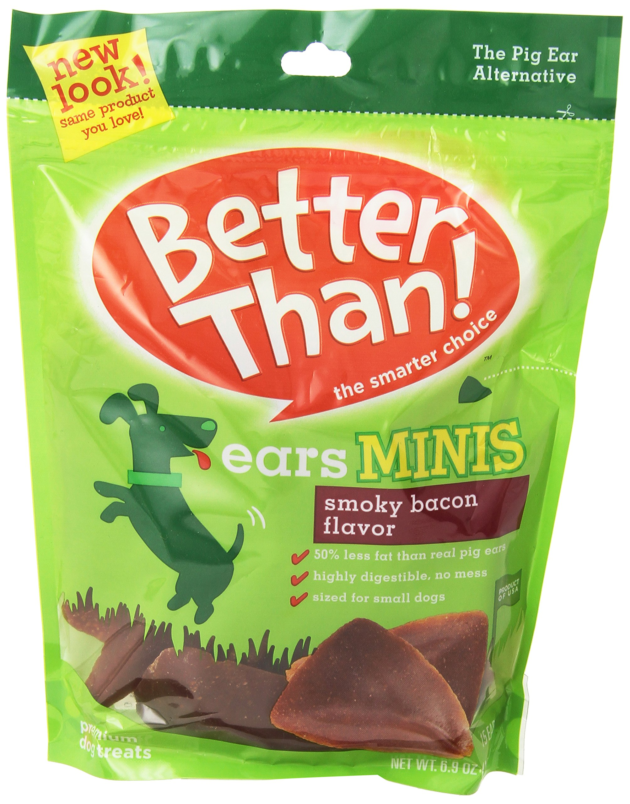 Phillips Food Supply BETTER THAN EARS 790501 15-Pack Minis Bacon for Pets, 7-Case