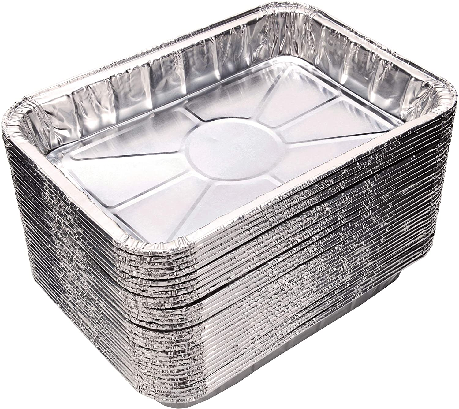 Toaster Oven Pans (20-Pack) - Disposable Aluminum Foil Toaster Oven Pans; fits all standard sized toaster ovens, Size - 8 1/2