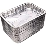 "[30 Pack] Compatible with Weber Grills Drip Pans, Bulk Package, Aluminum Foil BBQ Grease Pans, 7.5"" x 5"""
