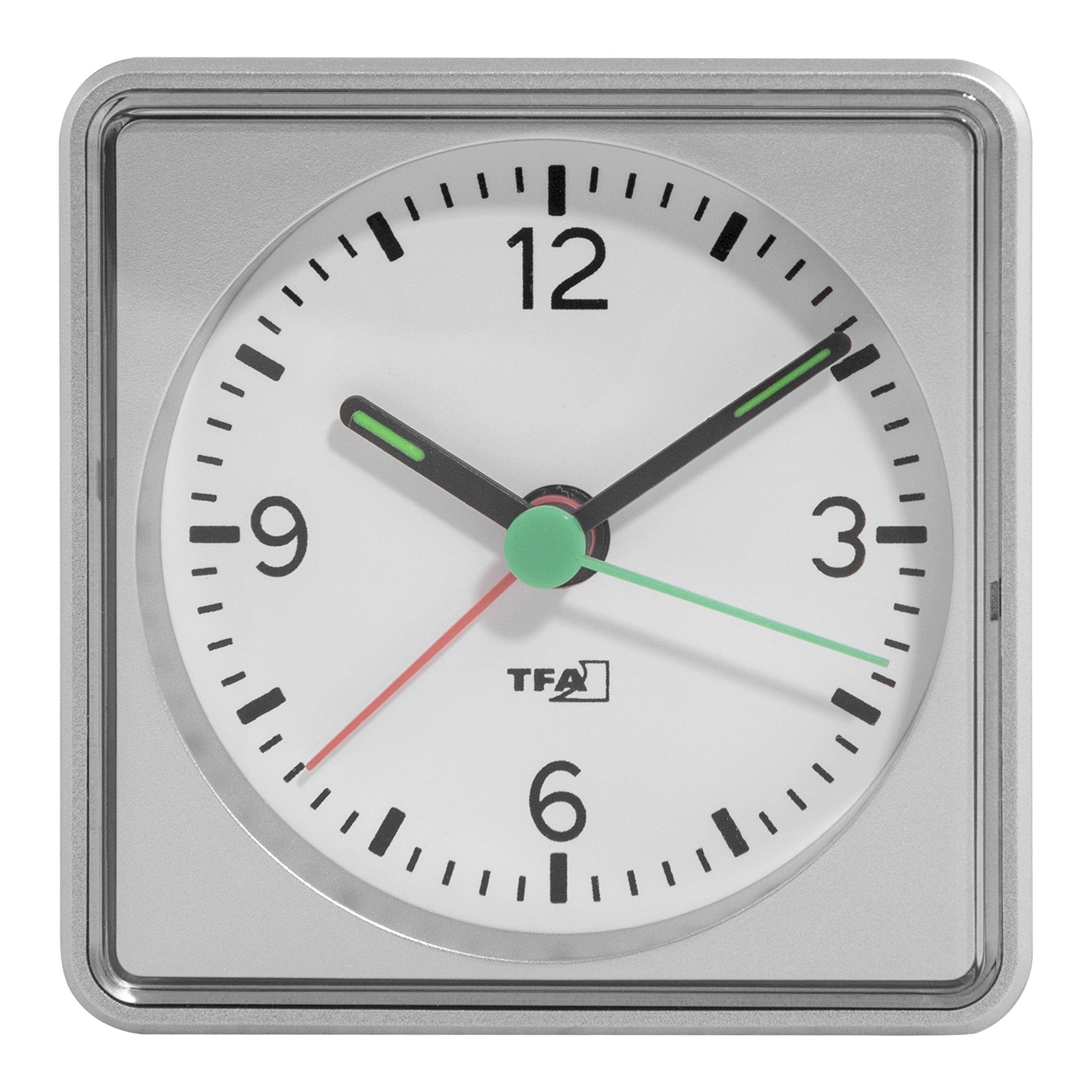 La Crosse Technology 60.1013.54 Push Electronic Alarm Clock, Silver