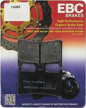 2 Packs - Enough for 2 Rotors EBC Organic Brake Pads FA252