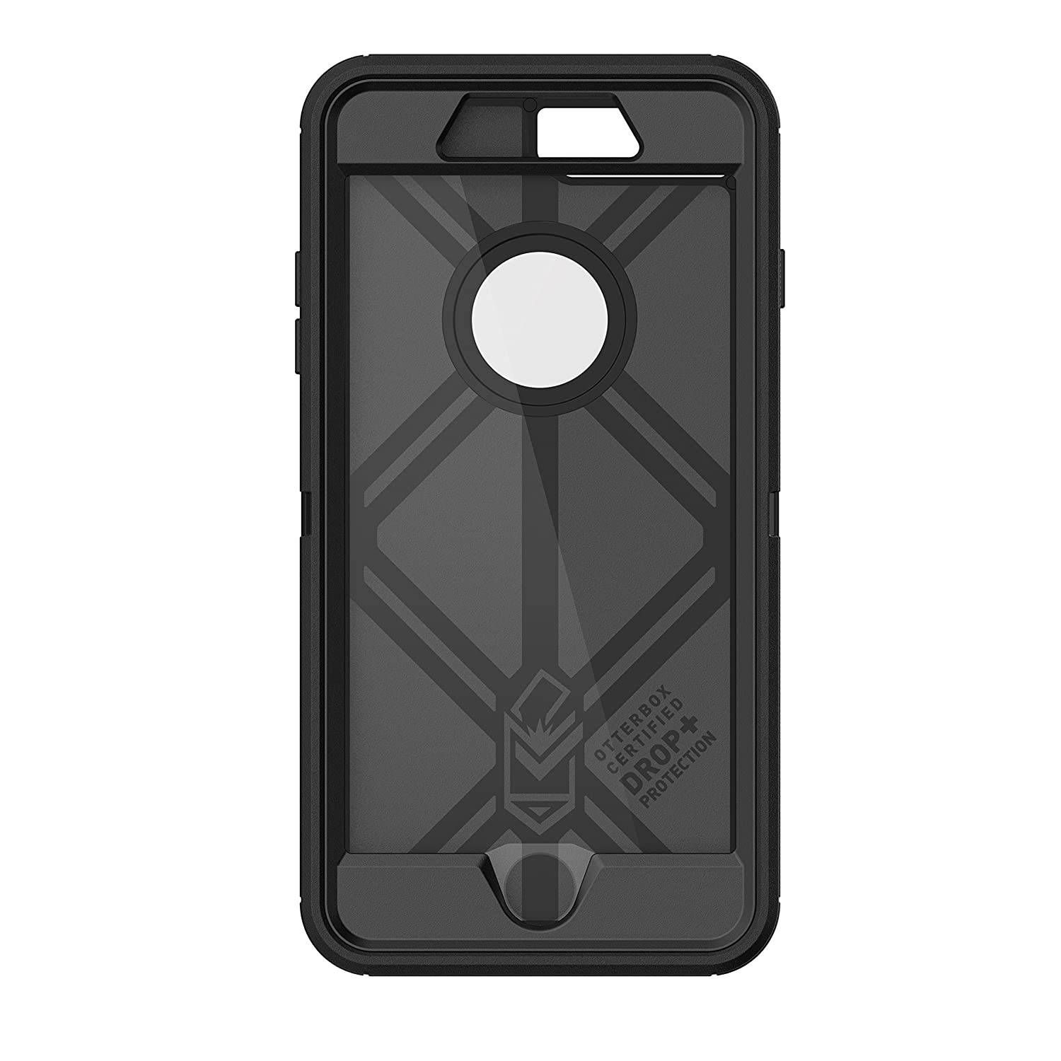buy online c3048 9dc2e OtterBox DEFENDER SERIES Case for iPhone 8 Plus & iPhone 7 Plus (ONLY) -  Retail Packaging - BLACK