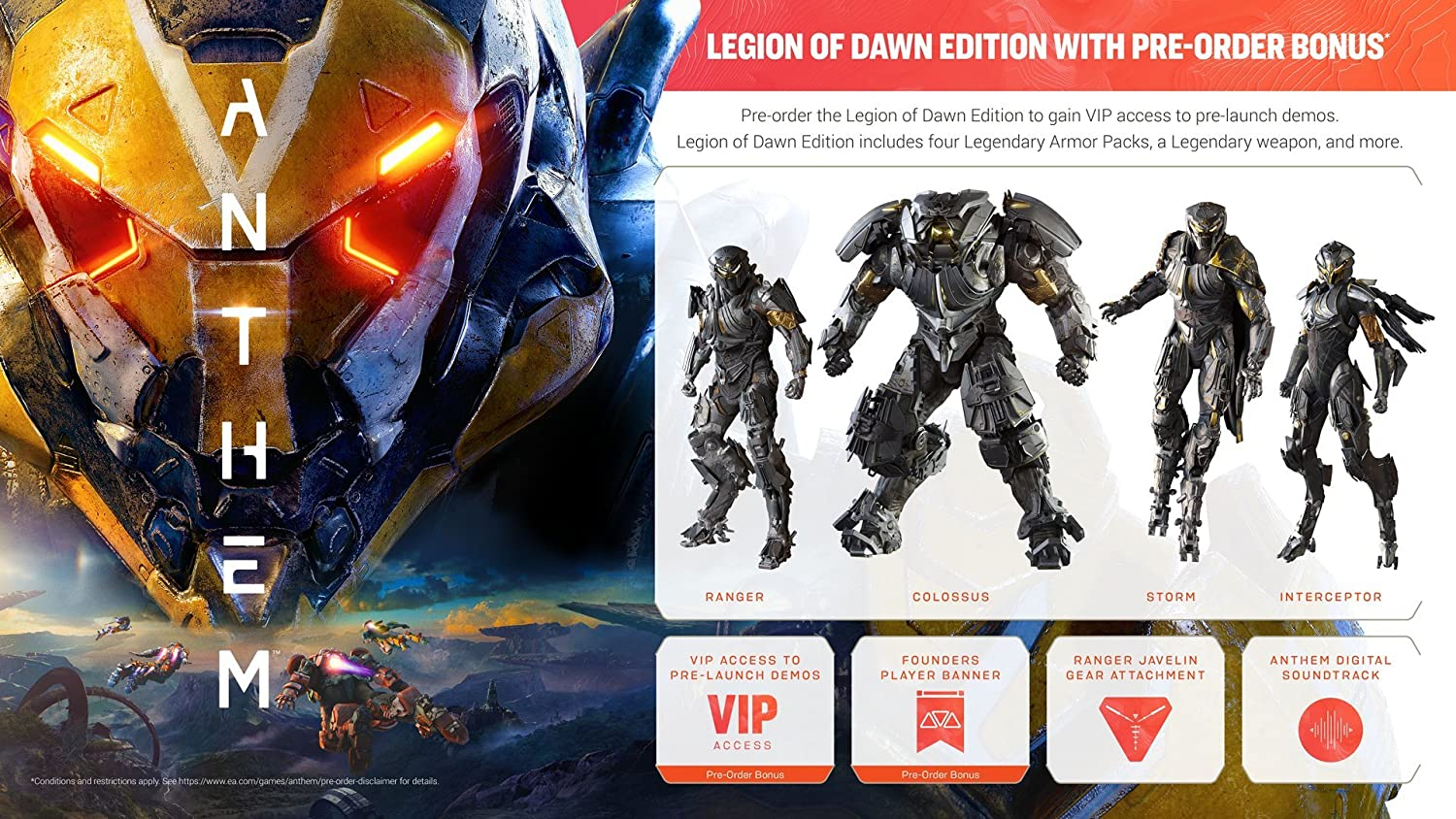 Amazon com: Anthem - Standard - PC: Video Games