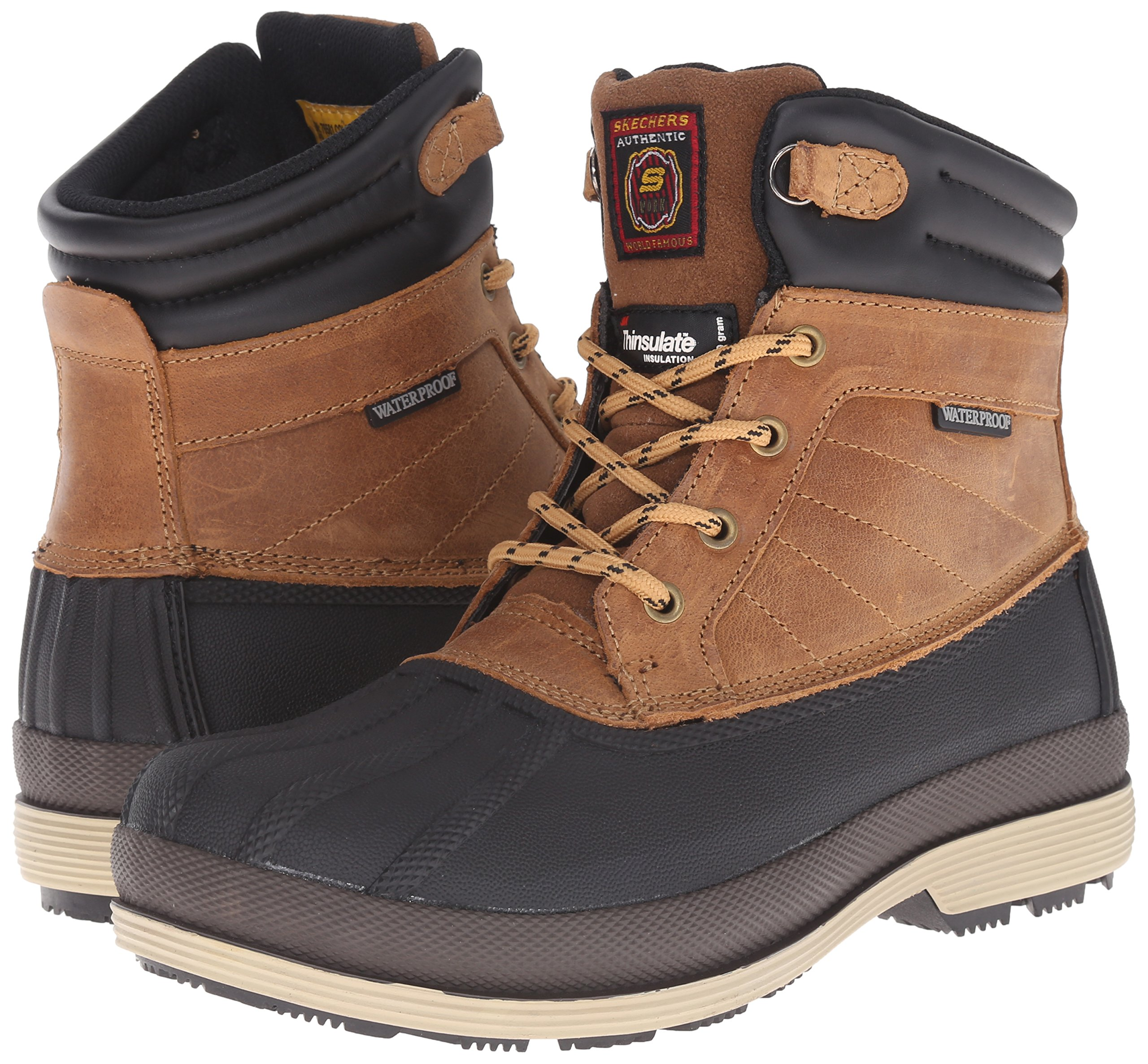 Skechers for Work Women's Duck Rain Boot, Brown, 5.5 M US by Skechers (Image #6)