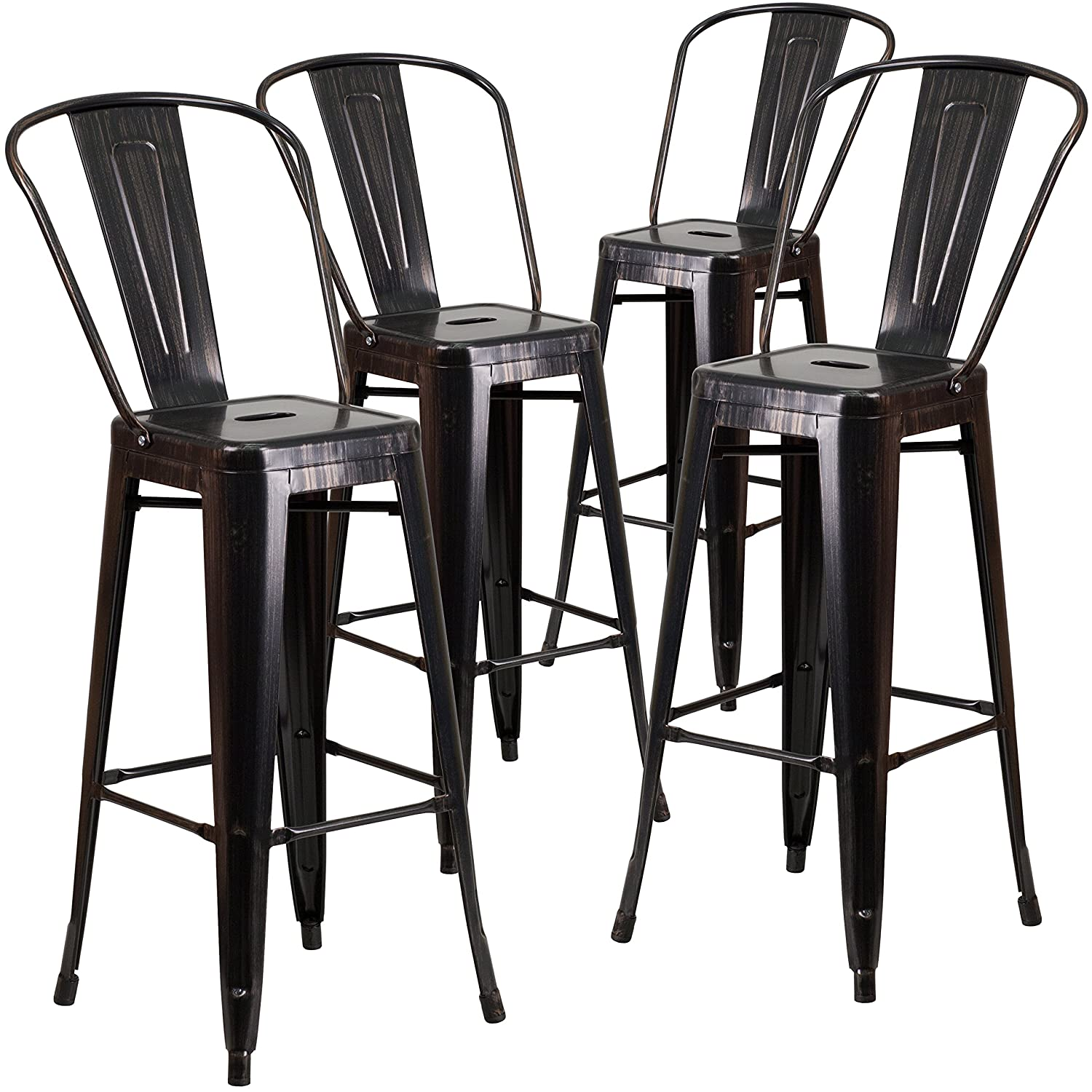 Amazon Com Flash Furniture Pk High Black Antique Gold