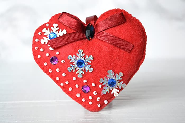 Amazon Com Valentines Day Gift Felt Heart Gifts For Girl Bridesmaid